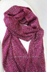 Стильный шарф- палантин бахрома