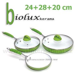 Сковородки  Биолюкс Керама Biolux kerama-комплект 3 шт.