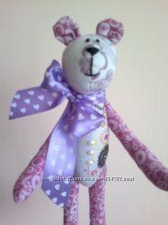 Мишка тильда, ручная работа тильда игрушка оригинальный подарок
