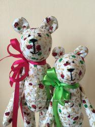 Набор мишек, 2 шт. , ручная работа оригинальный подарок кукла тильда