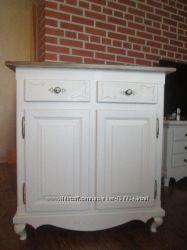 Красивый шкаф для посуды, комод в провансе, 100 натур дерево