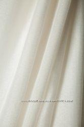 Красивая штора-тюль лен , молоко и белый.