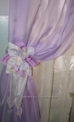 Цветы-подвязки для штор, гардин