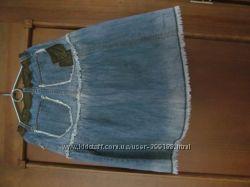юбки джинсовая и тонкая хлопковая