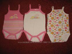 Бодики-маечки для девочки 0-3 месяцев