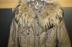Пальто на натуральном пуху, прошит, капюшон отстегивается