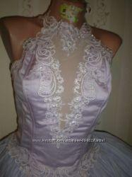 Свадебный или бальный наряд в комплекте, нежный приятный цвет