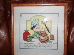продам вышитую картину для кухни