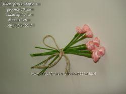 Розочки атласные  для скрапбукинга - изготовления открыток, свадебных аксес