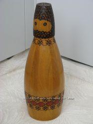 Сувенирная бутыль Горец натуральное дерево, 60-е года