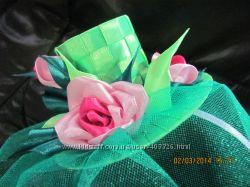 Шляпка декоративная Розочки