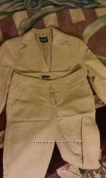 Костюм льняной из пиджак и брюк