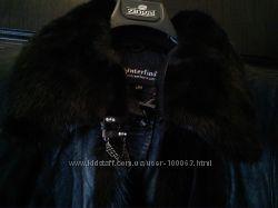 Качественное кожаное демисезонное пальто