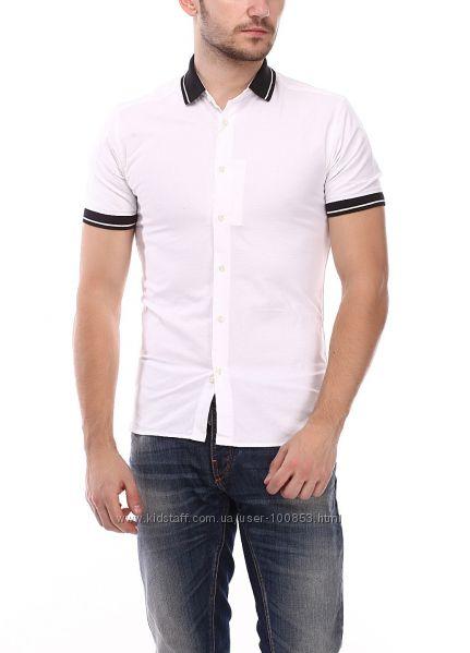 Рубашка приталенная не длинная S-M