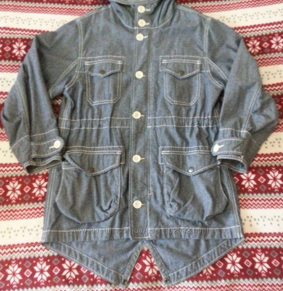 Очень модная джинсовая ветровка GAP для мальчика. Размер 8