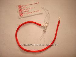 Красная шелковая нить на запястье с серебряными замками 13, 14, 15, 16, 16,