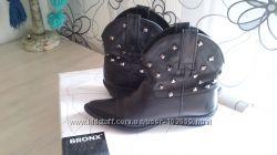 Ботинки Bronx, кожаные, 37р, в хорошем состоянии