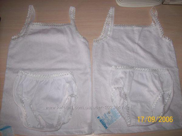 Красивенный белый комплект для девочки.