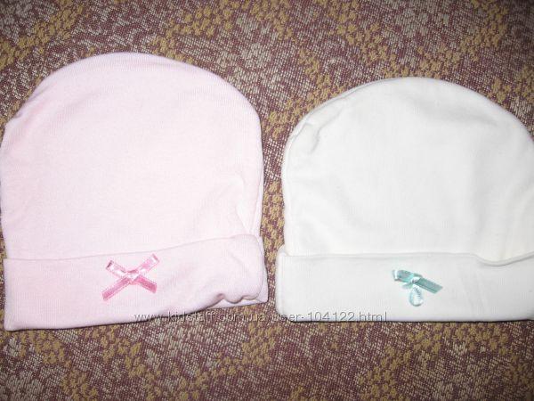 шапочки двойняшкам 9 штук