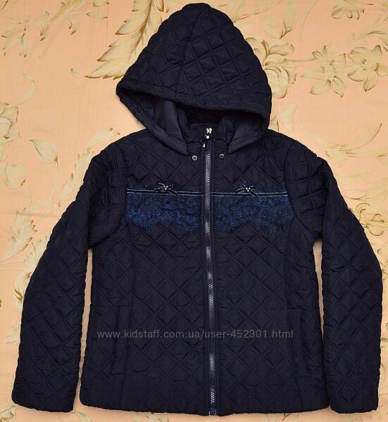 Куртка демисезонная темно-синяя. Размер 154