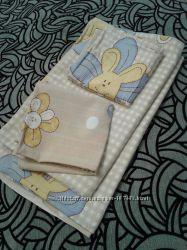 Постельный комплект в детскую кроватку Мишки