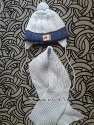 Шапочка с шарфом, зима