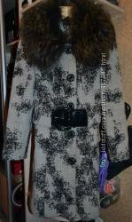 Пальто зимнее с мехом Liana