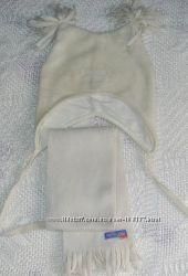 Шапочка с шарфиком SELA, обхват 48 см.
