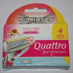 Сменные картриджи Wilkinson Schick Quattro for woman и Wilkinson Hydro Silk