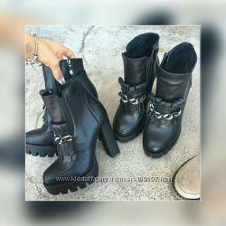 Ботильоны, кожаная обувь, ботинки