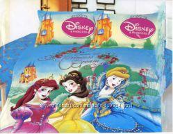 Постельное белье для подростков сатин Love You Disney снижена цена