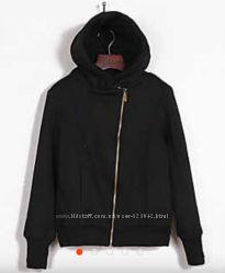 Стильная трикотажная кофта-куртка на утеплении