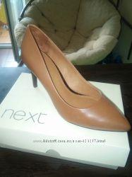 Коричневые  кожаные туфли NEXT