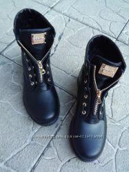 Ботинки из натурального замши и кожи 36-41