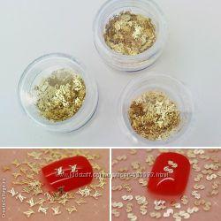 Логотипы  для ногтей Louis Vuitton, золотые, Германия - 100 штук