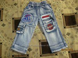 Моднячие джинсы Adidas  на девочку, рост 92 см, 14рр