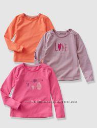 Регланы для девочек VERTBAUDET цвета, размеры от 5 до 14лет цена за 3шт