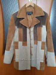 Куртка из натуральной замши S кожаная