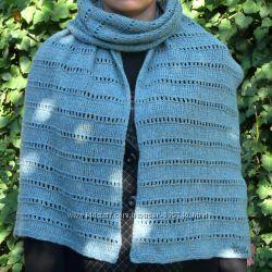 Длинный шарф из итальянской шерсти, меланж