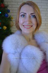 жилетка натуральная мех финской лисы,