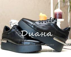 Кожаные туфли криперы со звездой