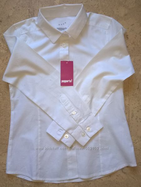 Школьная рубашка блузка Pepperts для девочки 110 cм