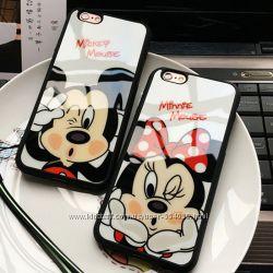 Cиликоновые Чехлы с Микки Маусом iphone 5 5S 5SE 6 6S