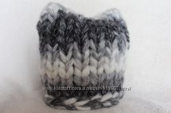 шапка с ушками крупная вязка