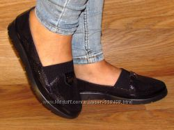 Женские мокасины туфли на резинке