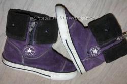 Демисезонные сапожки оригинал-Converse р-25 евр-9 в хорошем состоянии