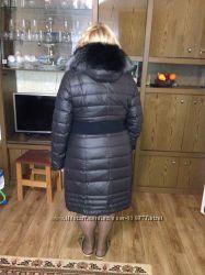 Новый стильный и теплый пуховик пальто