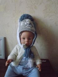 Шапочка на мальчика зимняя Pilguni