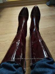 Сапоги Ecco утепленные, лаковая кожа, на ногу 24. 5-25 см