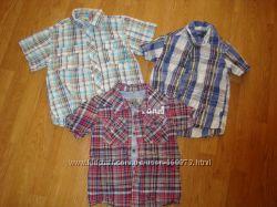 Много летних рубашек 4-6 лет